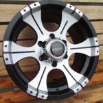 Diski R16 6×139.7 J8 ET10 Racingline 4X4 Black Polished Half Matt