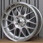 Diski R17 5×120 J7.5 ET34 Racingline BMW Silver +Polished Lip