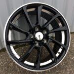 Diski R17 5×112 J7.5 ET34 Racingline Audi Black +Polished Lip